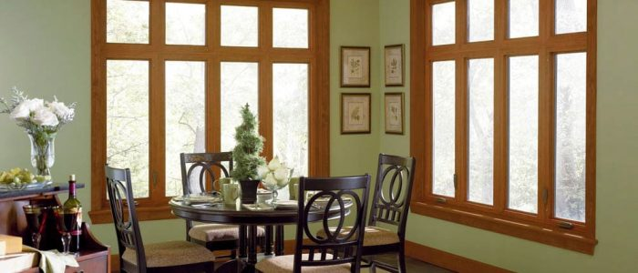 Casement Wood Finish + Transom - Replacement Windows Naperville - Home Improvements USA